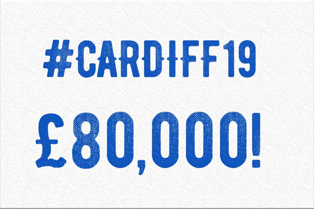 £80,000 raised for #Cardiff19